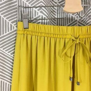 ZARA Maxi Skirt Elastic Waist + Slits